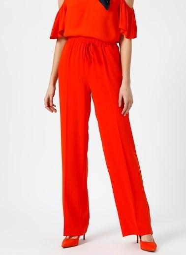 Random Beli Lastikli Bol Pantolon Oranj